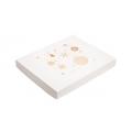Коробка для пряников новогодняя белая с золотом, 25*20*3 см.