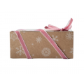 Коробка для 4 капкейков новогодняя с окном
