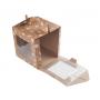 Коробка для пряничного домика крафт со снежинками 20*20*22 см.