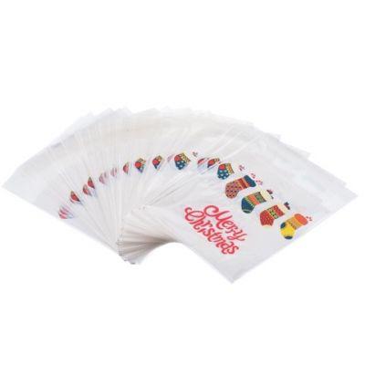 Пакетик для сладостей Новогодние носочки 10*11, 10 шт.