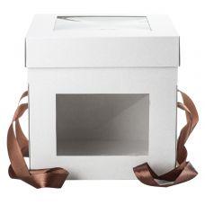 Коробка для торта 25*25*25 с окошками