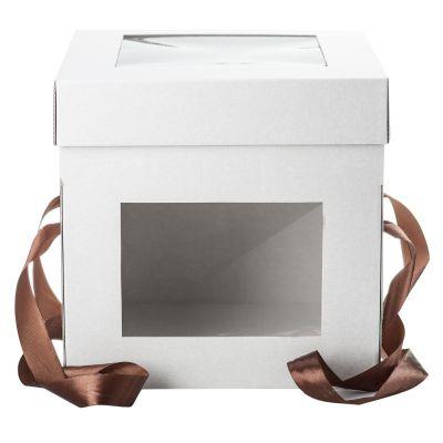 Коробка для торта 35*35*35 с окошками