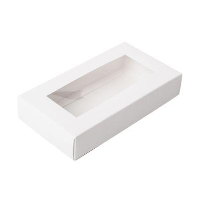 Коробка для пряников с окном белая, 15*8*3 см