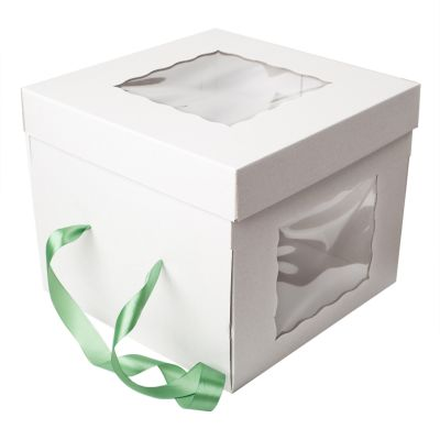 Коробка для торта 30*30*25 с окошками