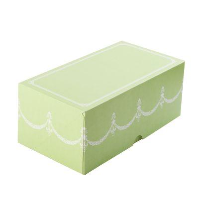 Коробка для 2 капкейков салатовая без окна