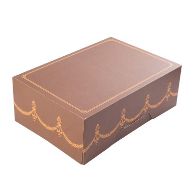 Коробка для 6 капкейков ПРЕМИУМ шоколадная без окна