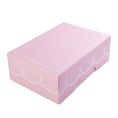 Коробка для 6 капкейков ПРЕМИУМ розовая без окна