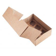 Коробка для 6 капкейков крафт без окна
