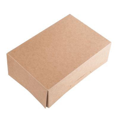 Коробка для 6 капкейков ПРЕМИУМ крафт без окна