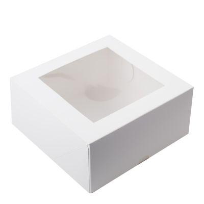 Коробка для зефира с окном белая