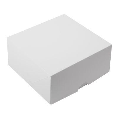 Коробка для 4 капкейков белая без окна