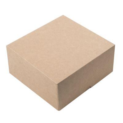 Коробка для 4 капкейков крафт без окна