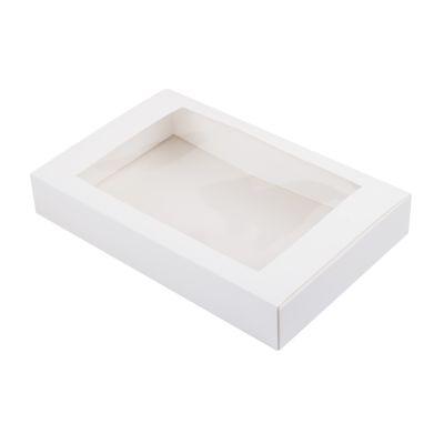 Коробка для эклеров с окном белая