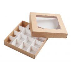 Коробка для конфет крафт с окном