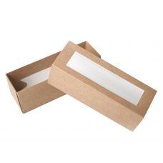 Коробка для макаронс с окном крафт для 5 - 6 шт.
