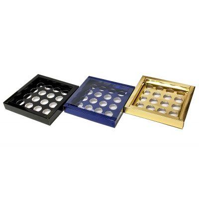 Коробка для конфет синяя с окном