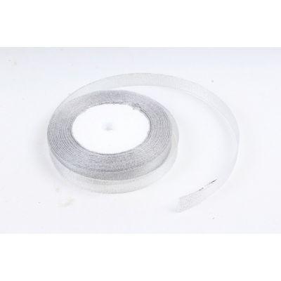 Лента тканная 1,3 см.*25 м., Серебро