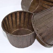 Бумажная капсула коричневая, 6 шт.