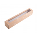 Коробка для макаронс новогодняя крафт длинная для 10 - 12 шт.