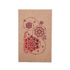 Коробка для пряников новогодняя с обечайкой крафт с красным