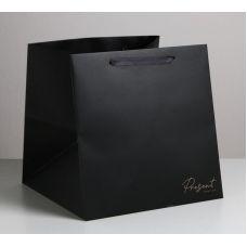 "Пакет квадратный ""Present"", 30*30*30 см"