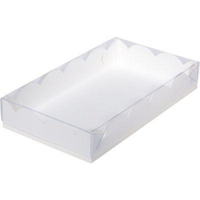 Коробка для кондитерских изделий белая, 25*15*3,5 см.