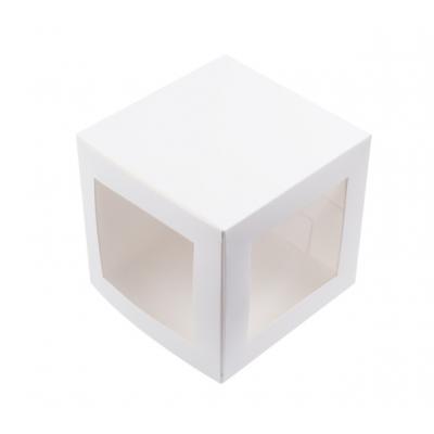 Коробка для пряничного домика и кулича белая 15*15*15 см.