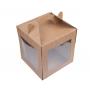 Коробка для пряничного домика и кулича крафт 20*20*22 см.