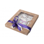Коробка для пряников новогодняя с фигурным окном крафт, 25*20*3 см.