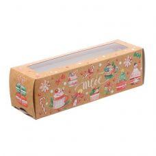 """Коробка для макаронс """"Тебе"""", 18*5,5*5,5 см"""