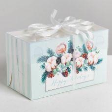 "Коробка для 2 капкейков ""Happy holidays"""