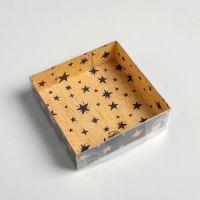 Коробка для кондитерских изделий Все желания сбудутся, 12*12*3 см.