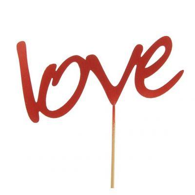 """Топпер для торта """"Love"""", красный"""