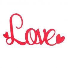 """Топпер для торта """"Love"""", красный (бумажный)"""