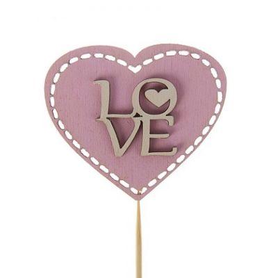 "Топпер для торта ""Love"" в сердце"