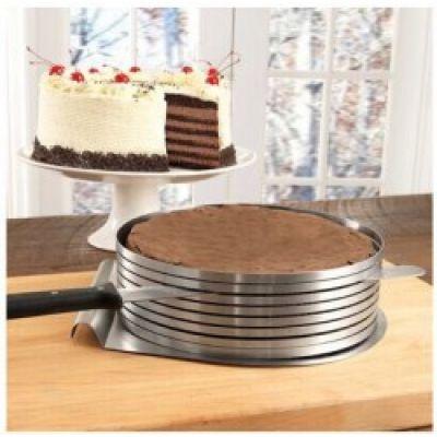 Регулируемое кольцо для резки бисквита. 24-30 см.